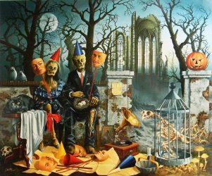 Sprzedawcy masek na Halloween